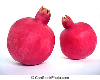 Rosh Hashanah - Pomegranates isolated on white background
