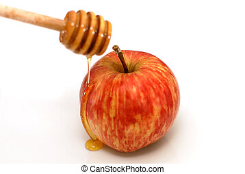 rosh hashanah, tradizionale, mela, e, miele