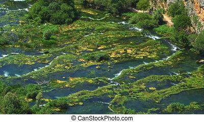 Roski Slap waterfalls - Waterfall Roski Slap on river Krka...