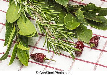 rosmarin, vik, blad, Chili