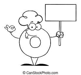 rosquilla, carácter, caricatura