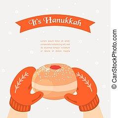 rosquilla, tenencia, tejido, hanukkah, manoplas, vendimia