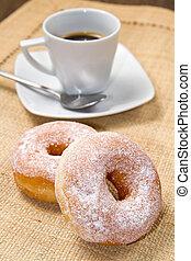 rosquillas, con, café