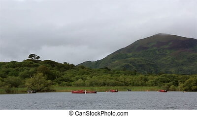 Ross Bay Lough Leane Lower Lake. Ring of Kerry in Ireland.