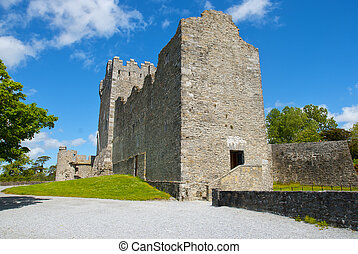 Ross Castle with blue sky, County Kerry, Ireland