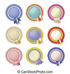 Rossette Set - Set of four vector rosettes for winners