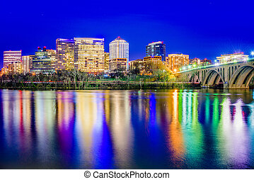 Rosslyn, Arlington, Virginia, USA city skyline on the...