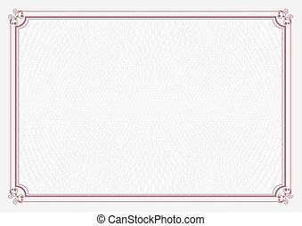 rosso, a4, formato, certificato, carta
