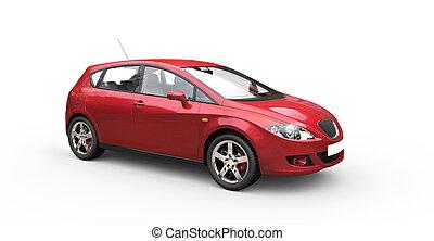rosso, automobile famiglia