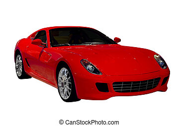 rosso, automobile sportivi