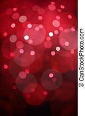 rosso, bokeh, luci, fondo