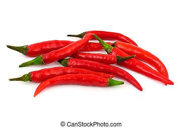 rosso caldo, pepe peperoncino rosso