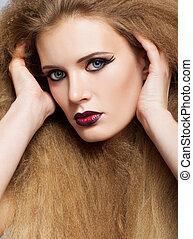 rosso, capelli, donna, lungo