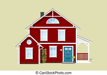 rosso, casa