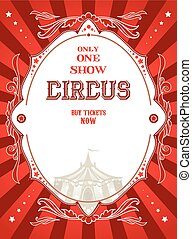 rosso, circo, manifesto