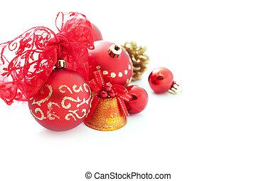 rosso, decorazioni natale
