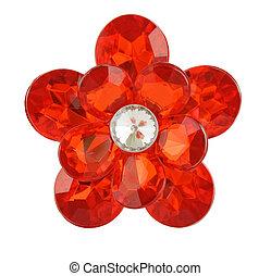 rosso, diamante, fiore