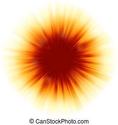 rosso, disegno colore, con, uno, burst., eps, 8