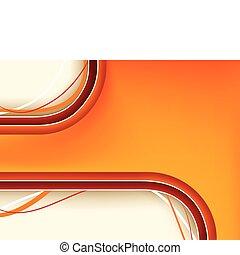 rosso, e, sfondo arancia, con, copyspace