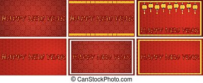 rosso, felice, fondo, anno, nuovo, disegno