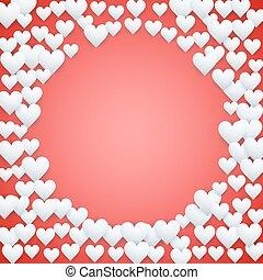 rosso, giorno valentines, fondo