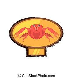 rosso, granchio, vita mare, marino, dorato, emblema