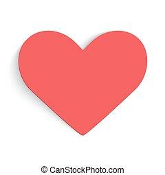 rosso, hearts., fondo