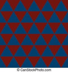 rosso, indaco, triangolo blu, fondo., vettore, illustration.