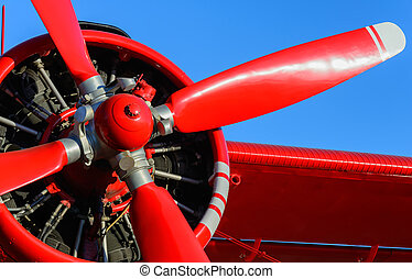 rosso, lama, aereo