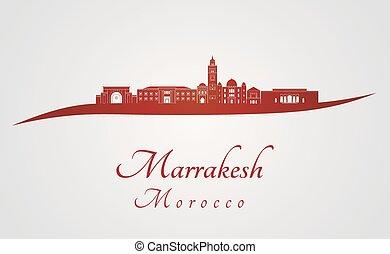 rosso, marrakesh, orizzonte