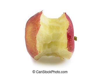 rosso, morso, mela