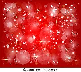 rosso, natale, fondo, con, stelle