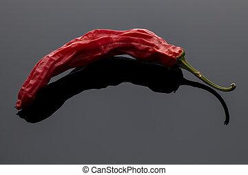 rosso, pepper., foto, asciutto, arte, multa