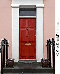 rosso, porta principale