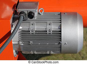rosso, potente, elettrico, motori, per, moderno, apparecchiatura industriale