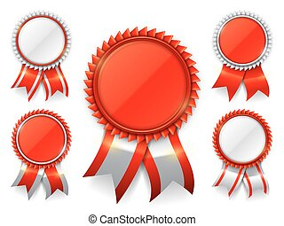 rosso, premio, medaglie