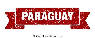 rosso, ribbon., segno, grunge, paraguay, banda
