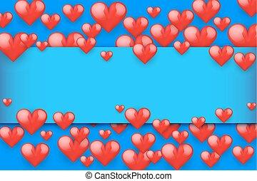 rosso, romantico, cuori, fondo