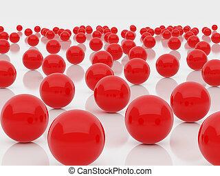rosso, sfere