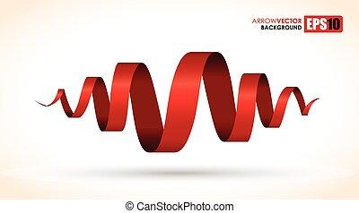 rosso, spirale, astratto, oggetto