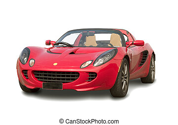 rosso, sport, automobile