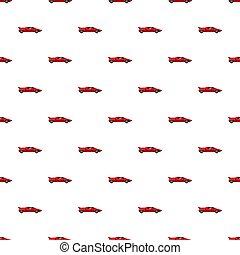 rosso, sport, automobile, vista laterale, modello