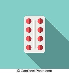 rosso, tavolette, pacchetto bolla