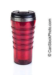 rosso, tazza, viaggiare