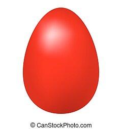 rosso, uovo di pasqua