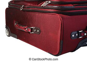 rosso, valigia