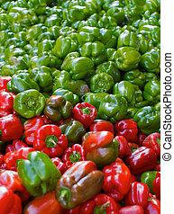rosso verde, peperoni