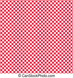 rosso, vettore, checkered