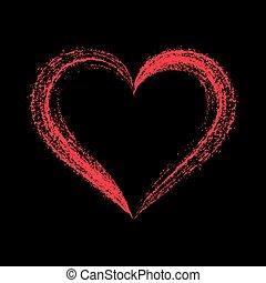 Cuore Vettore Amore Nero Rosso Cuore Amore Vettore Sfondo