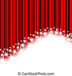rosso, zebrato, e, stelle